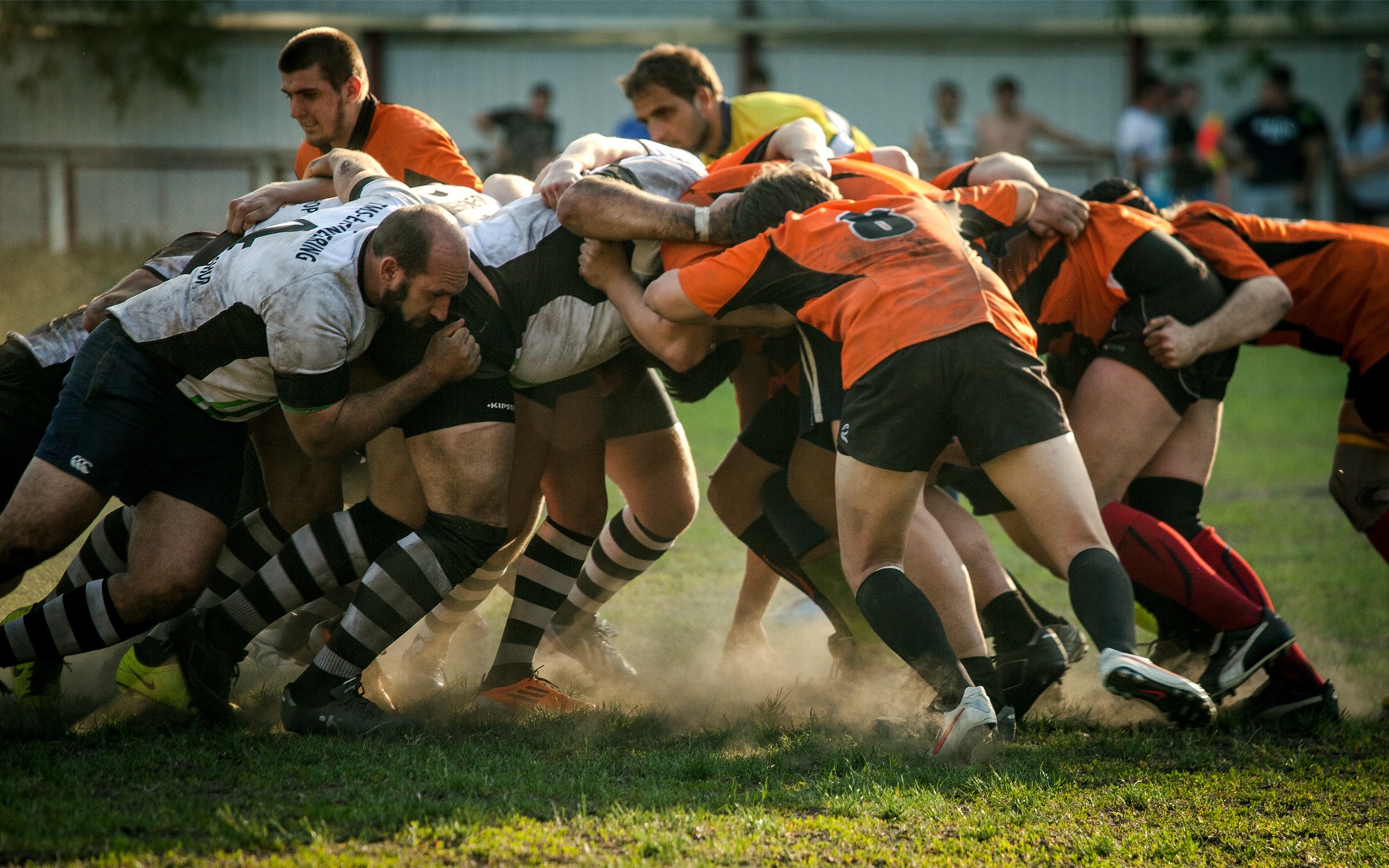 I choose rugby.  Independently.